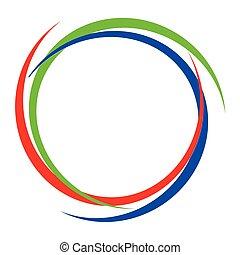 Circular RGB Logo - A red green blue RGB isolated logo