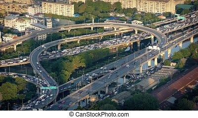Circular Road System At Rush Hour
