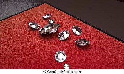 Circular Rotation around Some Big White Diamonds with a Red...
