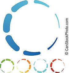 Circular, round design elements. Preloader, buffers shapes,...