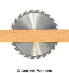 Circular Saw Blade - A close up shot of a circular saw blade