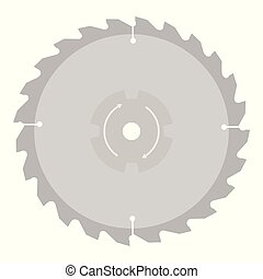 Circular saw blade for wood work isolated on white