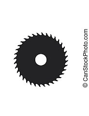 Circular saw blade icon isolated on white background. Vector illustration