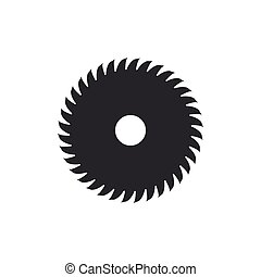 Circular saw blade icon isolated. Saw wheel. Flat design. Vector Illustration