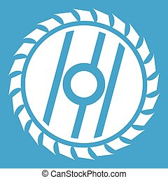 Circular saw blade icon white