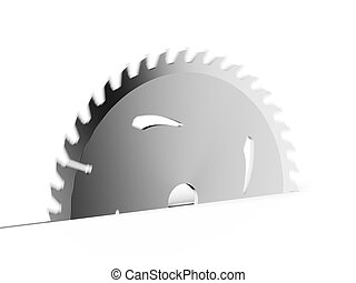 Circular saw blade isolated on a white background