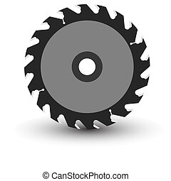 Circular saw blade on a white background. Vector ...