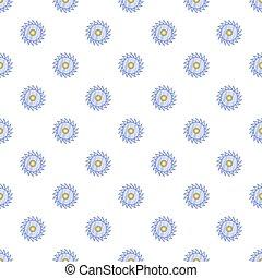 Circular saw blade pattern, cartoon style