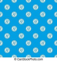 Circular saw blade pattern seamless blue