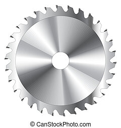 Circular Saw Blade - Wood cutting circular saw blade vector...