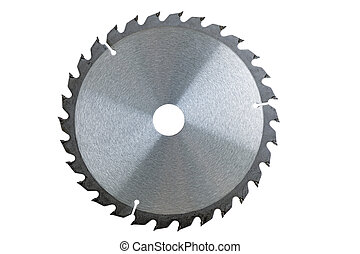 Circular Saw - Circular saw blade isolated over a white...