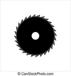 Circular Saw Disk Icon Design Vector Art Illustration