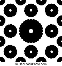 Circular Saw Disk Icon Seamless Pattern Vector Art ...