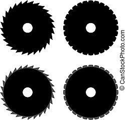 Circular Saw Disk Icon Vector Illustration