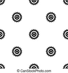Circular saw disk pattern seamless black - Circular saw disk...