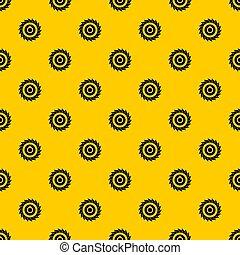 Circular saw disk pattern seamless repeat geometric yellow ...