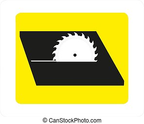 Circular saw disk. Vector icon isolated on white background