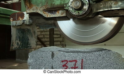 Circular saw for granite stone - The machine with a circular...