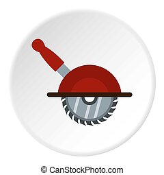 Circular saw icon circle