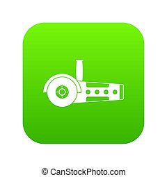 Circular saw icon digital green