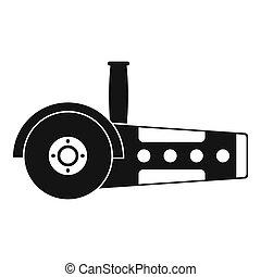 Circular saw icon simple
