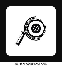 Circular saw icon, simple style