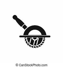 Circular saw icon, simple style