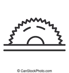 Circular saw line icon on white background