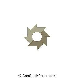 circular saw logo icon symbol element