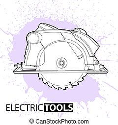 Circular saw on a bright background