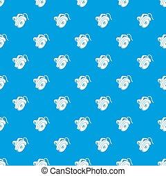 Circular saw pattern seamless blue