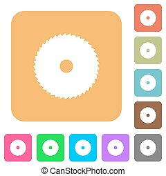 Circular saw rounded square flat icons