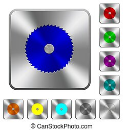 Circular saw rounded square steel buttons