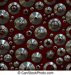 Circular Saw Seamless Pattern Background