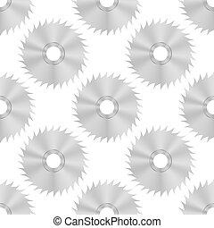 Circular Saw Steel Disc Seamless Pattern