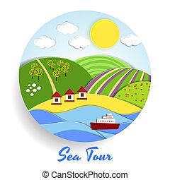 Sea Tour eco emblem