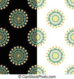 circular seamless floral pattern