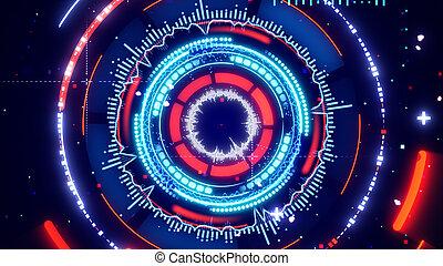 circular spectrum analyzer abstract futuristic illustration