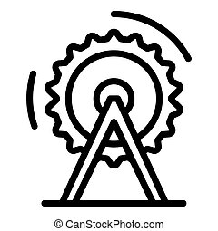 Circular stand electric saw icon, outline style