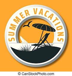 circular summer vacations vector logo - summer vacations...