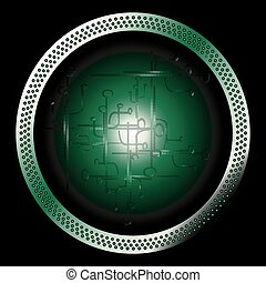 Circular Technical dark green