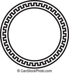Circular vector Greek ornament