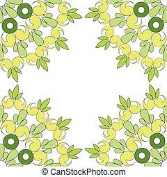 Circular vector ornament. Round pattern mandala.
