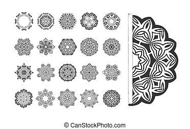 Circular vector pattern set