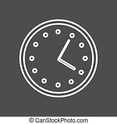 Circular wall clock line icon, outline vector sign, linear style. Symbol, logo. Editable stroke
