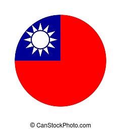 Circular world Flag - Flag, vector illustration circular...