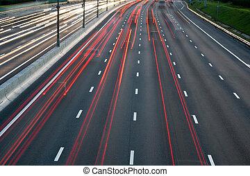 circulation dense, autoroute