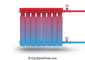 Circulation heat flow in radiator - The circulation of heat...