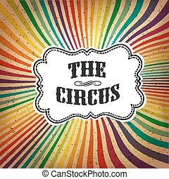 Circus Abstract Poster with Colored Rays Vector
