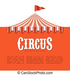 Circus advertisement, poster background design element